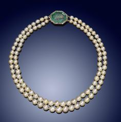 A two row natural pearl necklace - Lot 1881 - Jewellery