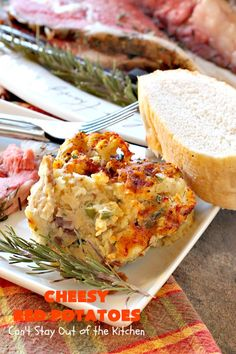 Cheesy Red Potatoes – Can't Stay Out of the Kitchen Cheesy Red Potatoes, Garlic Mashed Potatoes, Red Potato Recipes, Beef Recipes, Potatoes Romanoff Recipe, Vegetarian Nachos, Vegetable Prep, Prime Rib Roast, Food Dishes