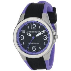 Looking for something sporty? Try the Freestyle 101981 Women's Horizon Sport Black Dial Purple & Black Rubber Strap Watch for only $50! #March #MarchMadness #Freestyle #watches