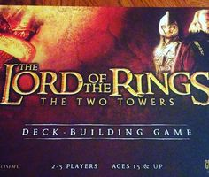 A good way to spend a Saturday night -Lynda #lordoftherings #thetwotowers #cardgame  #deckbuilder