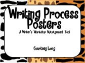 Writing Process Posters and Management - Jungle/Animal Print product from Classroom-Snapshots on TeachersNotebook.com