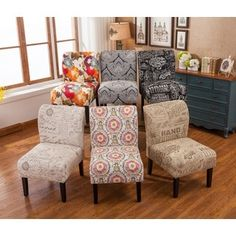 Shop for Capa Fabric Armless Contemporary Accent Slipper Chair. Get free shipping at Overstock.com - Your Online Furniture Outlet Store! Get 5% in rewards with Club O!