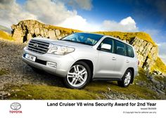 Toyota Land Cruiser wins Security Award for second year Land Cruiser 200, Toyota Land Cruiser, Toyota Cars, Sweet Cars, Car Pictures, Offroad, 4x4, Bike, Vehicles