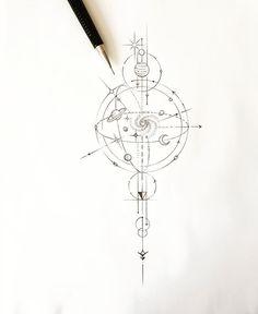 Tattoo Tattoo Design- # trafficdesign - geometry It's Des… Frank Yost - tattoo style - Trend Tattoo Fonts 2019 Geometric Tattoos Men, Geometric Tattoo Design, Wolf Tattoo Design, Geometric Graphic, Geometric Tattoo Planets, Geometric Tattoo Compass, Geometric Tattoo Nature, Mandala Compass Tattoo, Tattoo Abstract