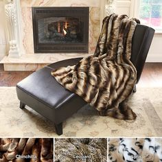 Oversize Safari Faux Fur Patterned Soft Throw Collection | Overstock.com Shopping - Great Deals on Throws