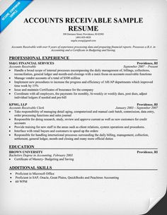 account receivable resume receivable resume example account ...
