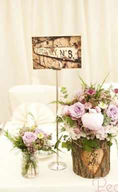 Find out more functioned as classy wedding centerpieces Wedding Flower Arrangements, Floral Arrangements, Wedding Bouquets, Wedding Flowers, Log Centerpieces, Centrepiece Ideas, Centrepieces, Flower Decorations, Wedding Decorations