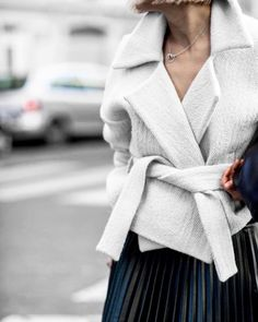 white + pleats