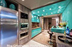 Construindo Minha Casa Clean: Cozinhas Decoradas com Azul! Maravilhosas!!!