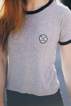 Brandy ♥ Melville | Nadine But First Coffee Patch Top - Graphics