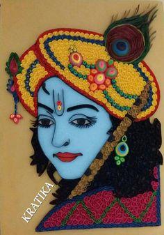 Artistics Photography of Jai Shri Krishna👌 Quilling Craft, Quilling Patterns, Quilling Designs, Paper Quilling, Quilling Ideas, Quilling Tutorial, Diwali Decoration Items, Thali Decoration Ideas, Colorful Rangoli Designs