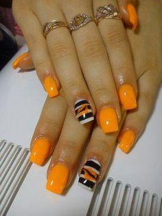 Bright Orange - Black - White - Stripes - Kisses #LoveIt