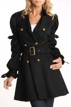 Too freakin' cute!!!   Ariella Funky Style Coat In Black - Beyond the Rack
