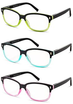 9659a8c647d Colorful Set of Reading Glasses (Crystal Pink