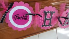 Barbie Banner, Barbie Birthday Banner, Barbie Party Decorations Photo Prop Matching Tissue Poms Are Available by PartyOnBanners2 on Etsy https://www.etsy.com/listing/202099929/barbie-banner-barbie-birthday-banner