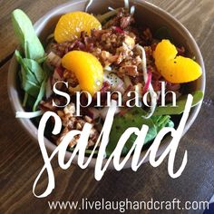 BYU-Idaho Spinach Salad! Amazing!! Must try! #delicious #salad #dole
