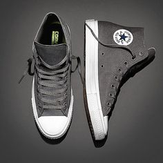 The Basics // Grey Chuck Taylor All Star II High-Top Sneakers.