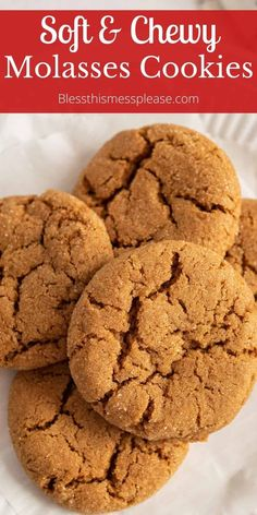 Old fashioned molasses cookies that are perfectly spices and stay soft and chewy when baked. You'll love this recipe! #baking #molasses #spiced #ginger #cookies Clean Eating Meal Plan, Clean Eating Recipes, Cookie Recipes, Dessert Recipes, Desserts, Old Fashioned Molasses Cookies, Ginger Cookies, Kid Friendly Meals, Holiday Baking