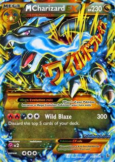 Mega Charizard EX X Flashfire Pokemon Card