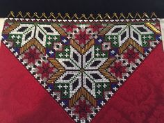 Bringeduker til Hardangerbunad/Fana/Os Cross Stitch Designs, Cross Stitch Patterns, Afghan Clothes, Crochet Bedspread, Hardanger Embroidery, Bead Crochet Rope, Cute Designs, Homemade Gifts, Bohemian Rug