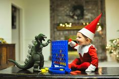 Dad Turns His New Baby into Elf on the Shelf in Adorable Photo Series