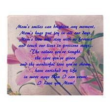 Mothers Day Azaleas Throw Blanket