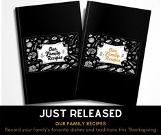 Record and preserve your family's favorite recipes this Thanksgiving. Notebooks, Journals, Food Journal, The Dish, Genealogy, Family Meals, Favorite Recipes, Dishes, Magazines