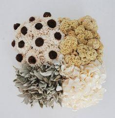 Sola Flowers, Celosia Cockscomb, Hydrangea, and Lamb's Ear