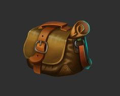 Prop design for android game. Game Ui Design, Prop Design, Zbrush, Bird People, Bags Game, Hand Painted Textures, Bag Illustration, Game Props, Mobile Art