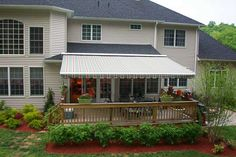 Retractable awning showcased in a gorgeous outdoor setting.