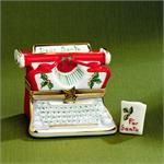 Limoges Holiday Typewriter Box with Letter to Santa