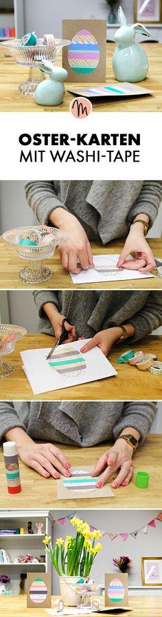Osterkarte mit Washi-Tape basteln - kostenlose DIY-Anleitung via Makerist.de