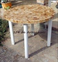 1/4 de Artesanato: Mesa reciclada com filtros de café