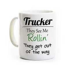 Truck Driver Coffee Mug Gift for Trucker by perksandrecreation