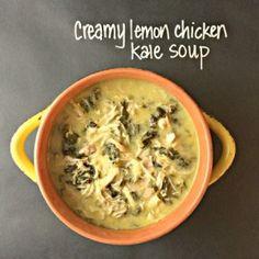 creamy crockpot lemon kale soup
