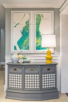 """Gone is the plain console table or run-of-the-mill cabinet. Adding a high-contrast, multi-dimensional detail to a furniture piece adds so much character to your furniture."" — Harmony Weihs, Design Harmony"