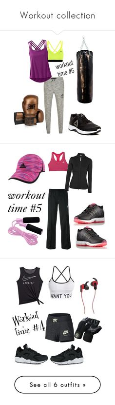 """Workout collection"" by honey-kika ❤ liked on Polyvore featuring NIKE, adidas Originals, prAna, Reebok, Leone 1947, adidas, Pineapple, JBL, Valeo and Fitbit"