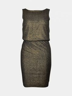 Lovis Gold Minimum. Guld glimmer kjole uden ærmer fra Minimum