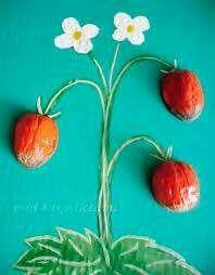 Ceviz kabuğundan çiçek