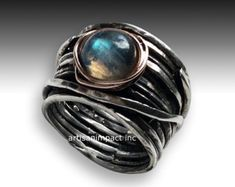 Meditatie Ring zilver band met ruby ring stapelen door artisanlook