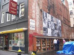 Brattle Book Shop at 9 West Street in Boston, MA is one of the oldest bookstores in the U. In Boston, Greater Boston, Inspirational Books, East Coast, Bookshelves, New England, Around The Worlds, Street View, The Incredibles