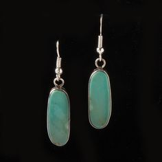 Small Oblong Turquoise Earrings -  Earrings - National Cowboy Museum