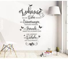 Wandtattoo Spruch Zuhause ist wo die Liebe wohnt...  von Grafolex