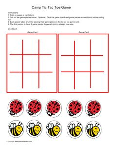 Camp tic Tac Toe Game