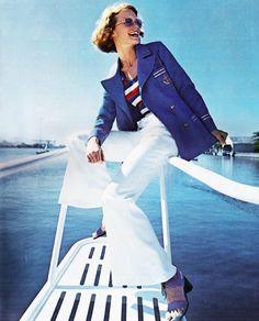 Nautical fashions by Bobbie Brooks forSeventeenmagazne, May 1972.