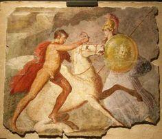Las famosas pinturas de Casa Ariadna en Pompeya.