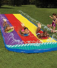 This Slip 'N Slide Triple Racer by Wham-O is perfect! #zulilyfinds