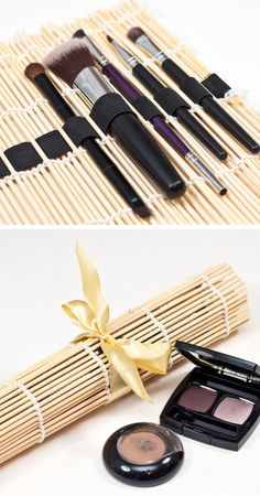 Portable Brush Organizer   Click Pic for 18 DIY Makeup Storage Ideas for Small Bedrooms   Easy Organization Ideas for the Home