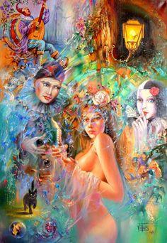 Máscaras. Artista Witali Żuk (Vito) .. Discusión sobre LiveInternet - Servicio de Rusia Diarios Online