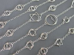 SMaddock Studio33 Sterling Silver Link with by smaddockdesigns, $56.00